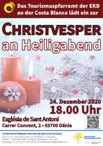 Flyer Christvesper an Heiligabend Denia 2020